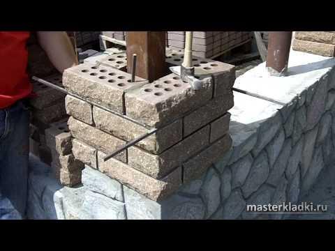 Кирпичная кладка столба. Полная технология и нюансы - [© masterkladki]