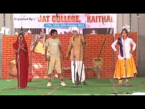 funniest Haryanavi skit Jat College ,Kaithal ,Haryana