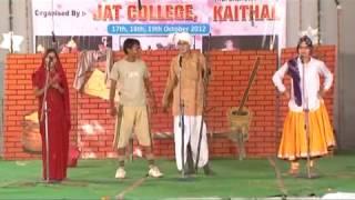 funniest Haryanavi skit Jat College ,Kaithal ,Haryana हरियाणवी नाटक