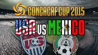USA vs MEXICO - Oct 10 - CONCACAF Cup FLUFFER - FIFA 15 PC Gameplay