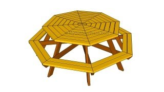 Octagon picnic table plans
