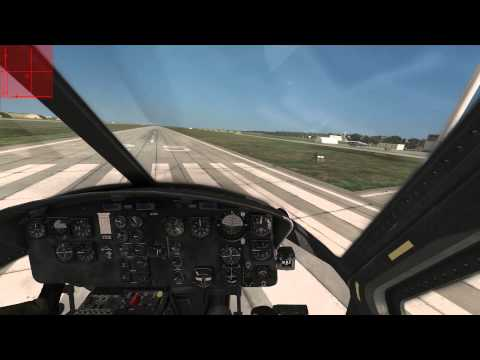 DCS UH1 Huey Startup - Taxi - Takeoff - Landing