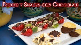 Dulces y Snacks con Chocolate Muy Populares para Fiestas y Reuniones