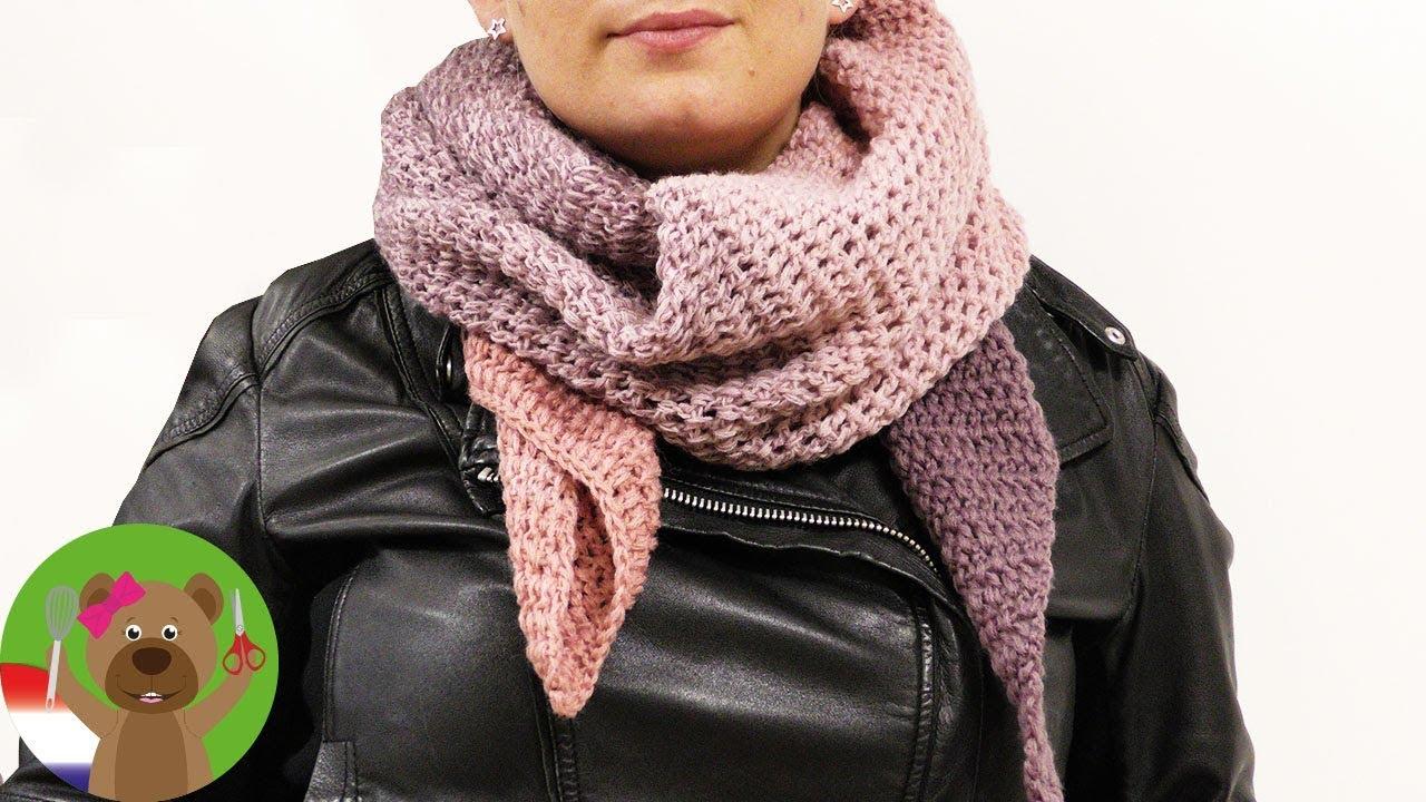 Driehoekige Sjaal Haken Supermooie Sjaal Voor De Winter Herfst