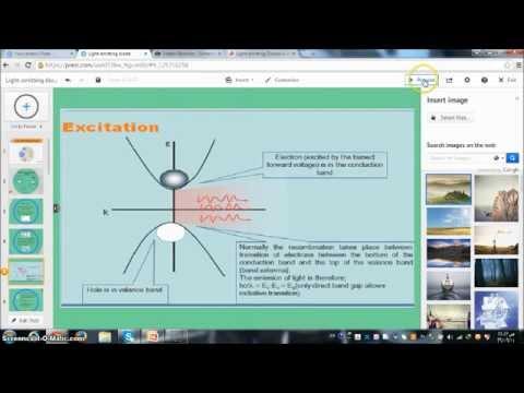 presentation of light emitting diode