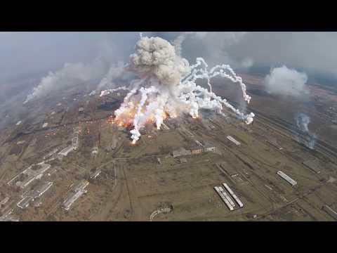 Ukraine huge ammunition warehouses explosions! - 23rd March 2017.