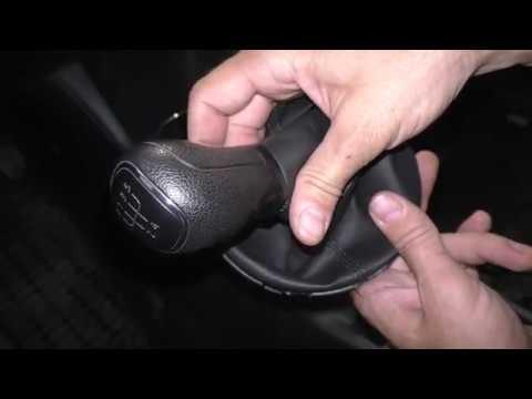 Как снять рычаг КПП и кожух - Skoda Fabia 2