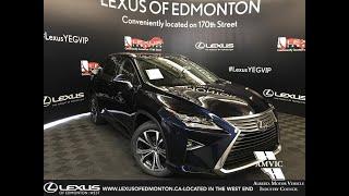 Blue 2019 Lexus RX 350 Executive Package Review Edmonton Alberta - Lexus of Edmonton New