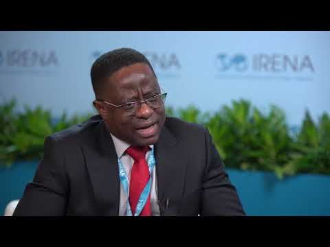 Ghana Minister of Energy John Peter Amewu, at IRENA 9A