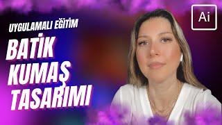 Adobe Illustrator - Batik Kumaş Deseni çizimi