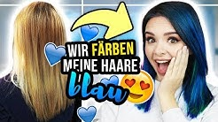 Haare Blau Färben Daheim Blondieren Mit Got2b Farbartist Rebecca