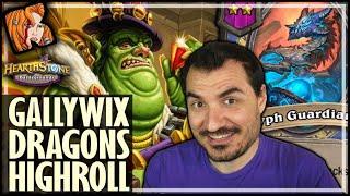 GALLYWIX DRAGONS = MAX HIGHROLL?! - Hearthstone Battlegrounds