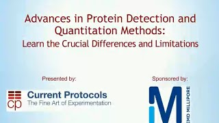 Webinar: Advances in Protein Detection and Quantitation Methods