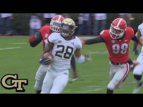 Georgia Tech Football Countdown: Juanyeh Thomas's touchdown against UGA
