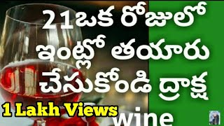 How to make grape wine at home/wine recipes/easy/instant wine in telugu/christmas special/E-218