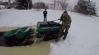 Всесезонний плаваючий мотобуксировщик ''БК'' від РОСТИН