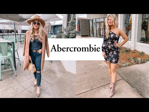 HUGE Abercrombie Haul - Winter To Spring Outfit Ideas