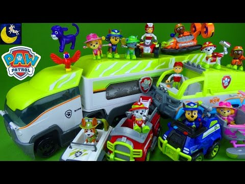 Lots of Paw Patrol Jungle Rescue Toys Jungle Paw Patroller Paw Terrain Vehicle & Pups Car Toys