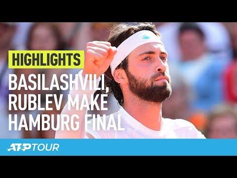 Basilashvili, Rublev Make Hamburg Final | HIGHLIGHTS | ATP
