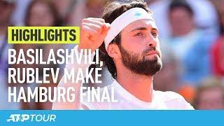 Basilashvili, Rublev Make Hamburg Final   HIGHLIGHTS   ATP