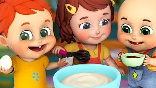 Pat A Cake song | Yummy Food Song for Kids + More Nursery Rhymes & Kids Songs -  Jugnu Kids