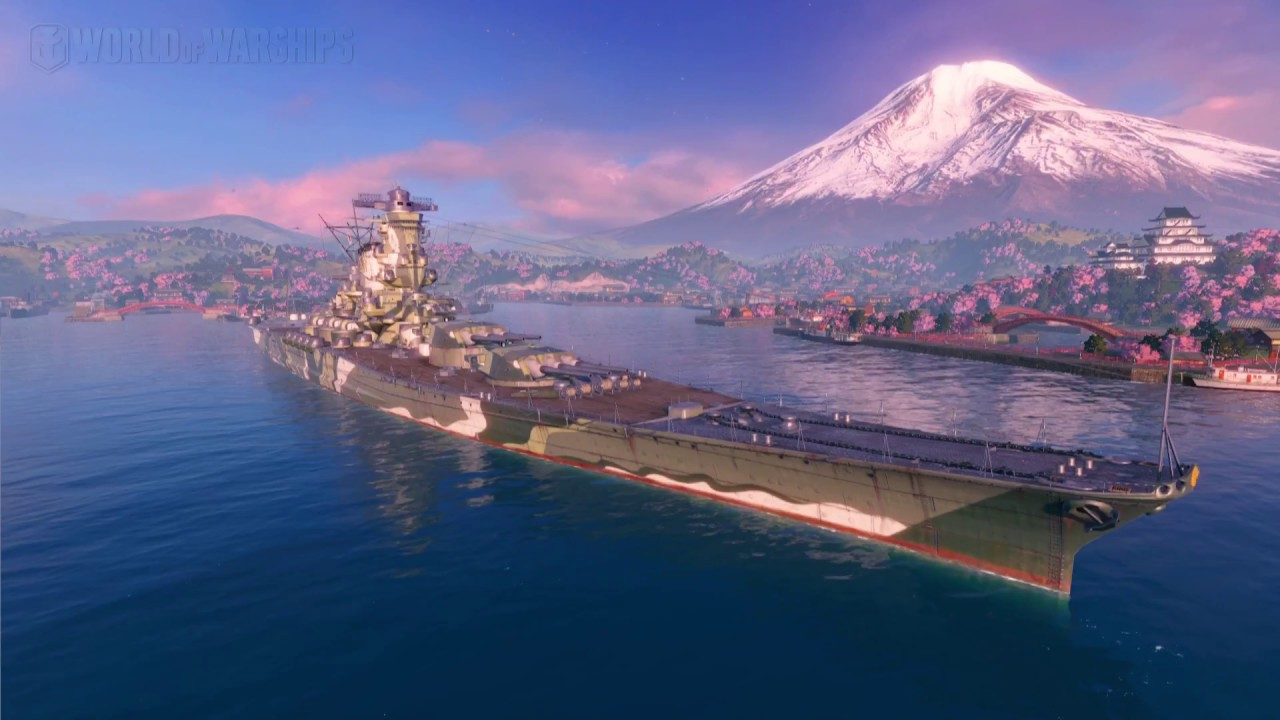 World Of Warships Premium Yamato Live Wallpaper Preview Youtube