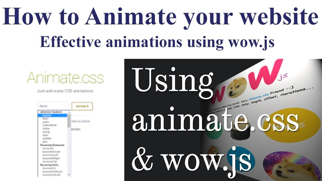 Download How to Animate your website | Effective Animations using Wow.js and Animate.css 🔥🔥