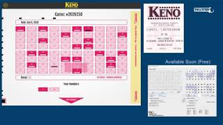 Massachusetts State Lottery - Keno Keno ticket and drawing on June ...