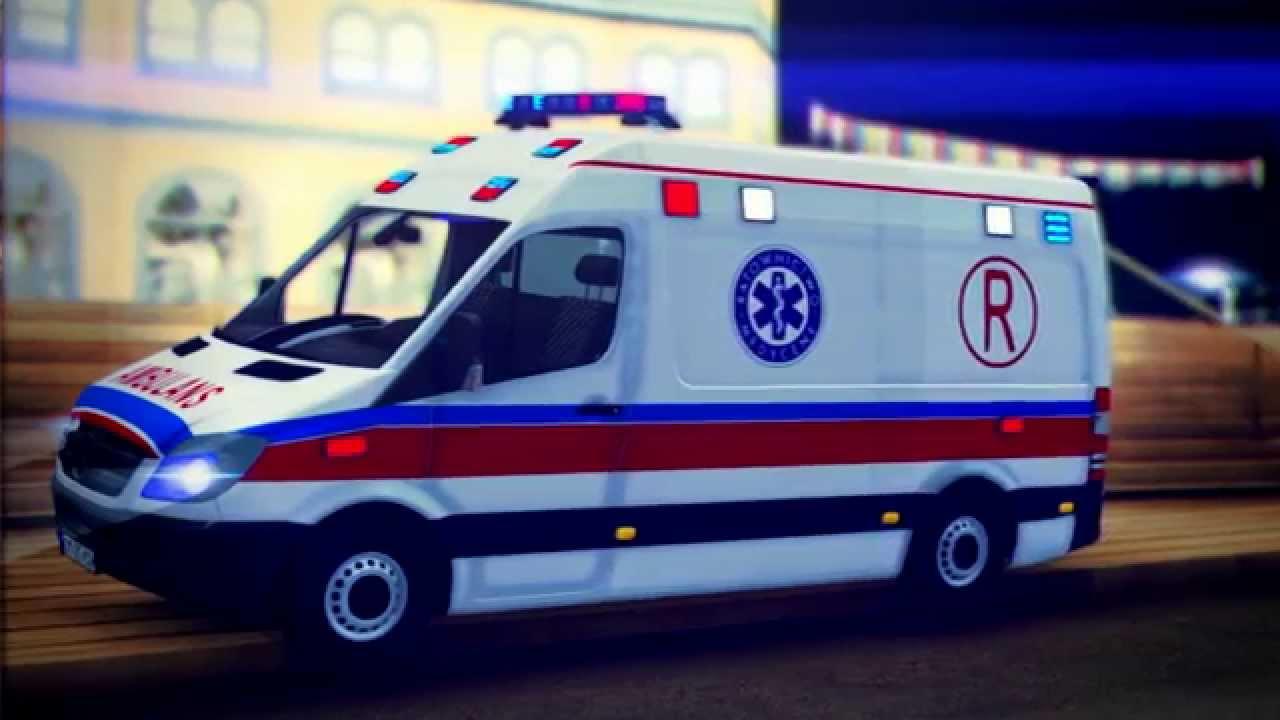 Gta Sa Polish Mercedes Sprinter Ambulance Download Youtube