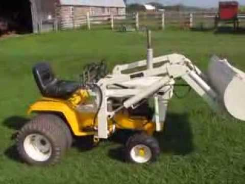 Sears Lawn Tractor Wiring Diagram 1971 Cub Cadet 149 W Johnson 14 Front End Loader Youtube