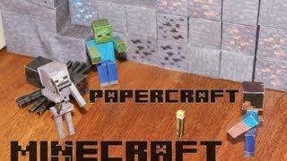 Esqueleto de minecraft en papercraft