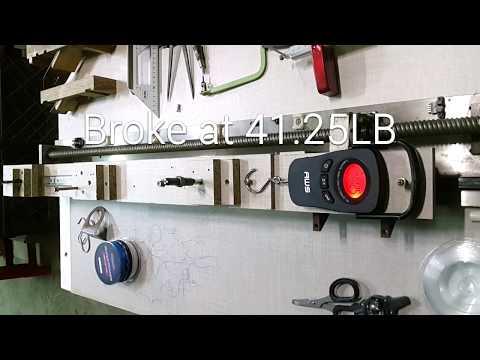 Kastking Super Power braid 15LB, 20LB and Mono 30LB strength Test