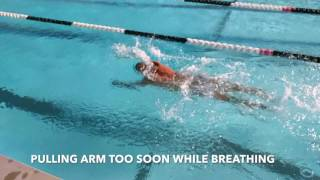 Slow Motion Freestyle Breathing Mistake Beginners
