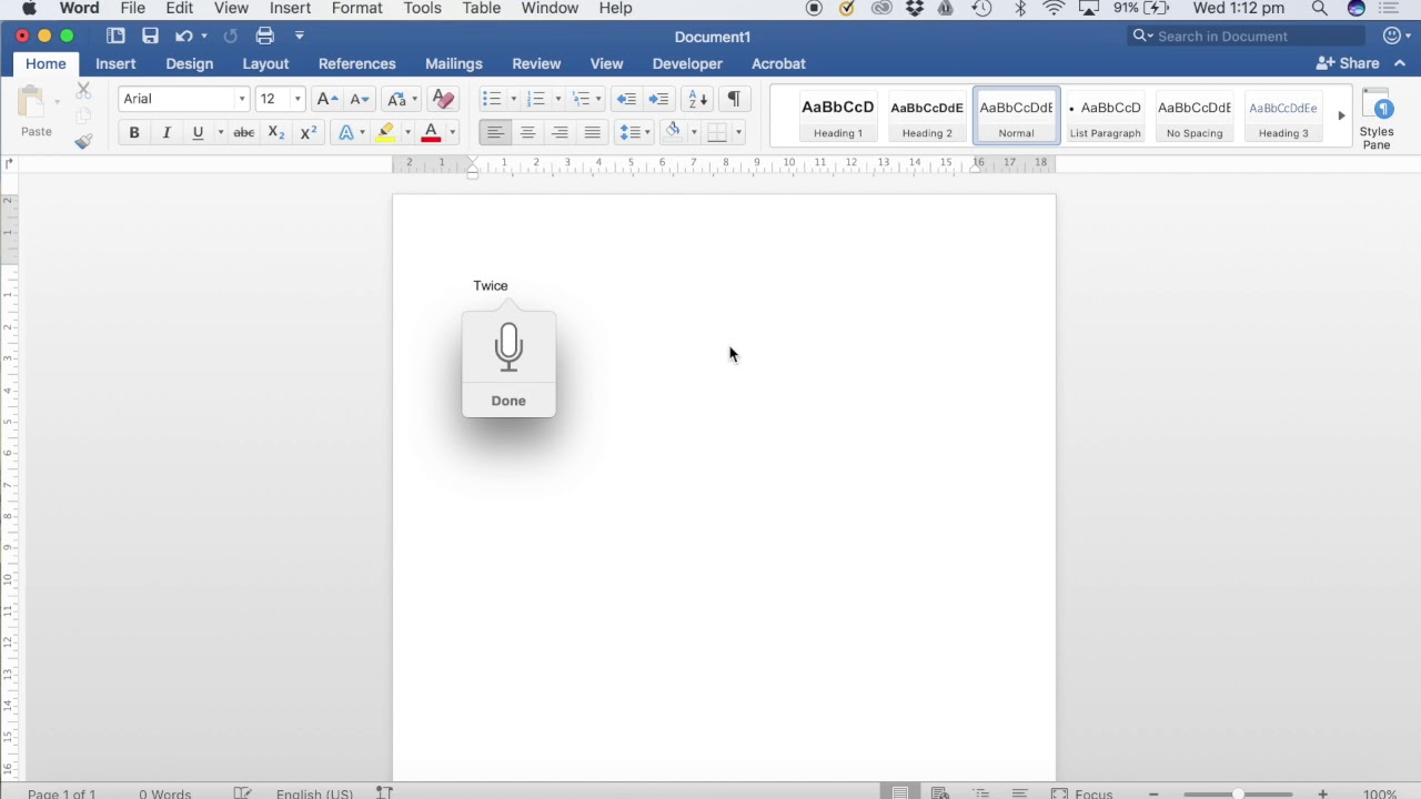 Using Dictation in Microsoft Word for Mac