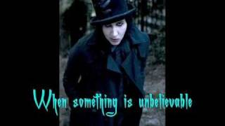 WOW - Marilyn Manson [Lyrics, Video w/ pic.]