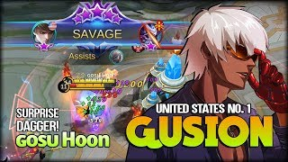 SAVAGE!! The Ultimate Dagger. ɢᴏsᴜ Hoon United States No. 1 Gusion - Mobile Legends