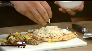 Cooking With Good Day Austin: Grilled Veggie Naan Pizza