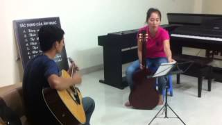 Học guitar tại Trung tâm âm nhạc Piano Fun Hà Đông hà nội