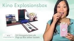 Kino Gutschein selber machen | Explosionsbox basteln | Geschenkideen | mini-presents.com
