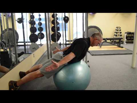 Correct Your Posture | Swiss Ball Prone Thoracic Spine Extension Exercise