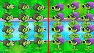 Plants vs Zombies: [ Gatling Pea ] Team PvZ Angry Birds vs PvZ1