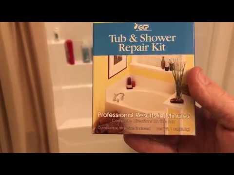 How to fix a Crack or Hole in Bathtub - Fiberglass Shower tub chip gelcoat repair