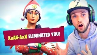 I was eliminated by Ali A in fortnite