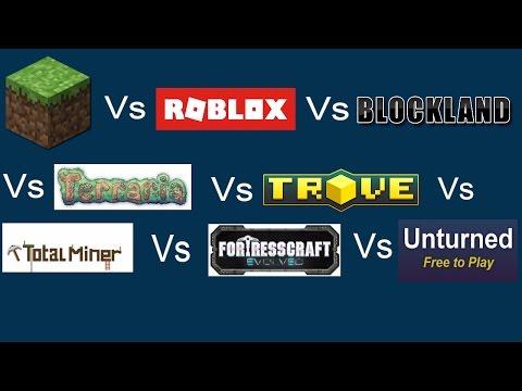 Blockland Free Robux Get Robux For Watching Videos Minecraft Vs Roblox Vs Blockland Vs Terraria Vs Fortresscraft Evolved Vs Total Miner Vs Trove Vs Youtube