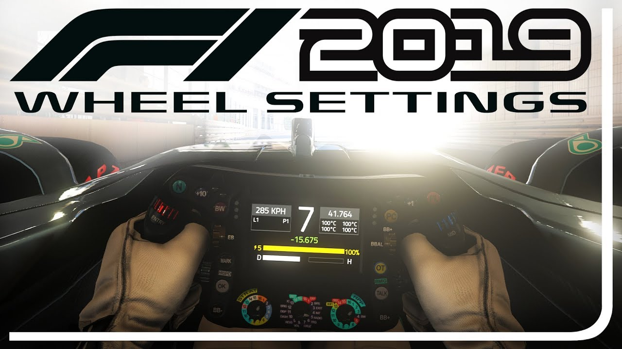 F1 2019 WHEEL & FORCE FEEDBACK SETTINGS