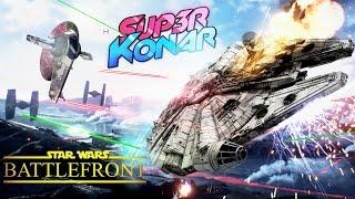MOMO PILOTE LE FAUCON MILLENIUM! Star Wars Battlefront