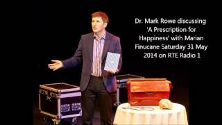Dr. Mark Rowe speaks to Marian Finucane (RTE Radio 1) about A Prescription for Happiness