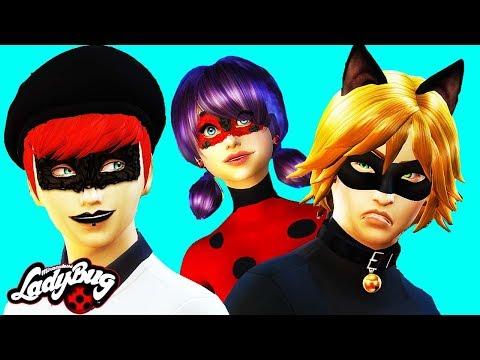 Miraculous Ladybug & Cat Noir Sims 4 (Ep 5) 🐞 EVILLUSTRATOR 🐞 Sims 4 Miraculous Ladybug