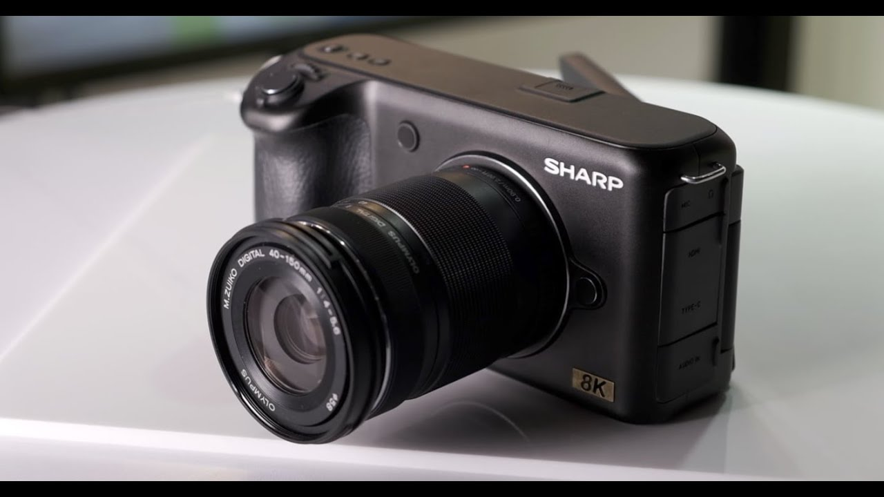 sharp 8k micro four thirds camera youtube