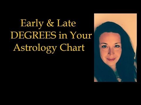 Early & Late Degrees in Your Astrology Chart